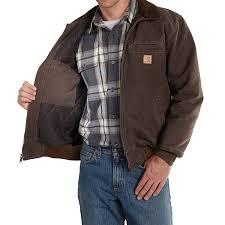 carhartt bankston sandstone duck jacket for men
