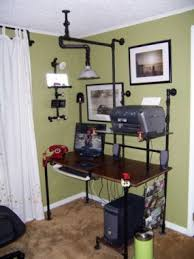 recycled pipe desk junkmarket style