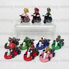 10pcs super mario bros mini kart pull car pvc figures