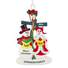 family collection personalized ornaments and city