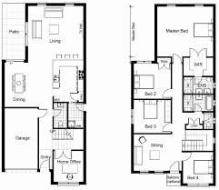 narrow home plans two storey house plan autocad lovely 25 best ideas about narrow