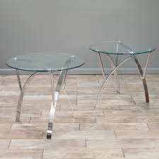 glass end table set marin round glass end table set of 2 by christopher knight home