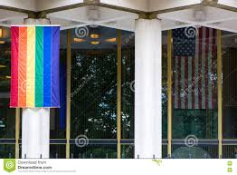 Rainbow Us Flag Rainbow Flag With Stars And Stripes At Us Embassy London