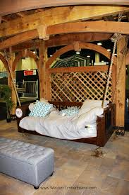 Timber Frame Pergola by Solid Wood Heavy Duty Timber Framed Hanging Suspended Couch Bed On
