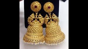 big jhumka gold earrings swarnakshi big jhumkas collection