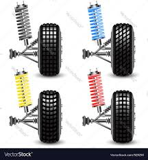 car front suspension set front car suspension royalty free vector image