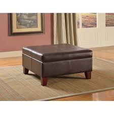 Wood Storage Ottoman Coffee Table Best Example Large Leather Storage Ottoman Coffee