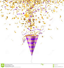 party poppers party popper with confetti stock vector illustration of gold