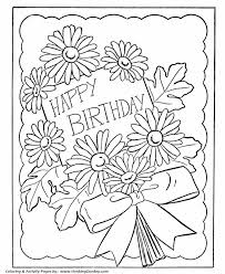 birthday coloring pages free printable kids birthday flowers