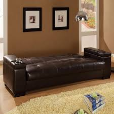 brown faux leather futon roselawnlutheran