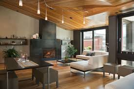 modern living room with fireplace marceladick com