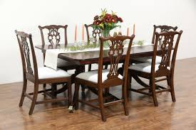 georgian design 1860 antique mahogany dining table 7 leaves