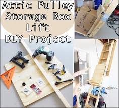 attic pulley storage box lift diy project the homestead survival