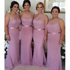Pink Bridesmaid Dresses Aliexpress Com Buy 2017 Dusty Rose Pink Bridesmaid Dresses One