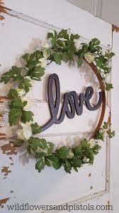 embroidery hoop wreath u2013 wildflowers u0026 pistols