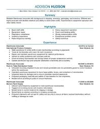 Example Of An Resume by Examples Of Warehouse Resume Template Design