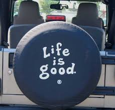jeep life tire cover all things jeep closeout life is good tire cover coin