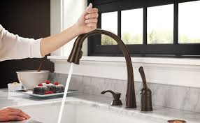 touch on kitchen faucet beautiful delta touch kitchen faucet 15 for home design ideas with