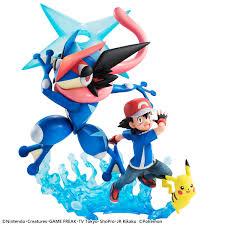 ash pikachu and ash greninja in new pokémon g e m set tokyo