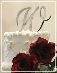 w cake topper silver acrylic mirror cake toppers
