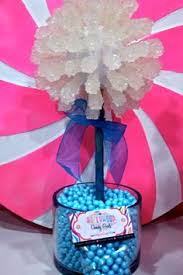 rock candy centerpiece candy centerpieces pinterest candy