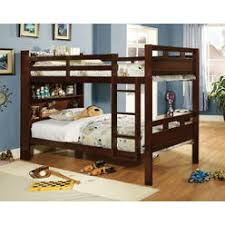 Bunk Beds With Bookcase Headboards Solid Wood Twin Bookcase Headboard