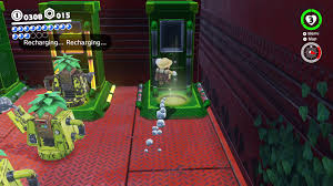 Red Black And Green Flag With Moon And Star Super Mario Odyssey Guide Wooded Kingdom All Power Moon Locations