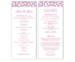 Word Template For Wedding Program Wedding Program Template Diy Editable Text Word File Download