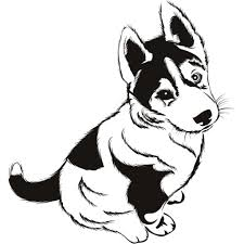 coloring pages husky puppy kids drawing and coloring pages