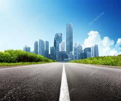 Modern City Asphalt Road And Modern City U2014 Stock Photo Iakov 25110527