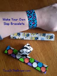 make your own slap bracelet toys in the dryer kids pinterest