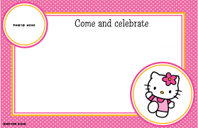 free printable hello kitty birthday party invitations drevio