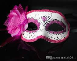 pink masquerade masks hot sale painted masquerade masks party decoration