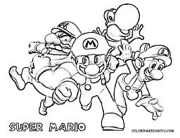 super mario color pages super mario bros characters coloring mario