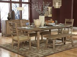 rustic walnut wood dining room bench combined large rectangular