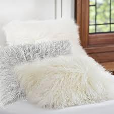 Mongolian Faux Fur Rug Mongolian Fur Pillow Cover Pbteen