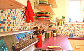 kitchen best colorful kitchen design with colorful tiles