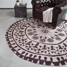 Schlafzimmer Teppich Rund Rangoli Neuseeland Woll Teppich Rund Nanimarquina