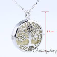 large locket necklace images Tree of life silver locket necklace diffuser jewelry essential oil jpg