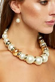big fashion pearl necklace images Large faux pearl necklace just 5 jpg