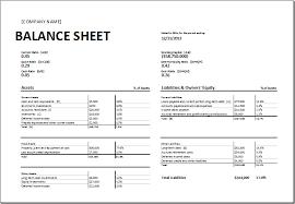 Restaurant Balance Sheet Template Calculating Ratios Balance Sheet Template For Excel Excel Templates