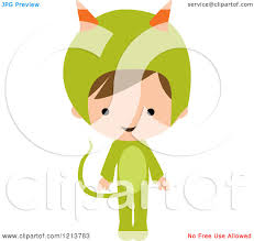 Monster Halloween by Cartoon Of A Cute Boy In A Green Monster Halloween Costume
