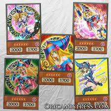 yu gi oh custom anime orica dark magician 5 card set
