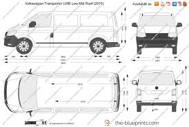 The Blueprints Com Vector Drawing Volkswagen Transporter T6