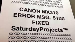 cara reset printer canon ip 2770 eror 5100 canon printer error 5100 how to fix mx310 disassembly see desc
