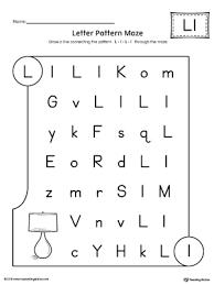 letter l pattern maze worksheet myteachingstation com