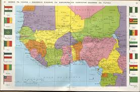 Benin Africa Map by Map Of West Africa In Haussa Language 2048 X 1351 Mapporn