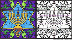 menorah mural diagram art projects for kids