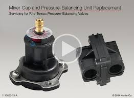 Kohler Shower Faucets Troubleshooting Instructional Video Mixer Cap And Pressure Balancing Unit