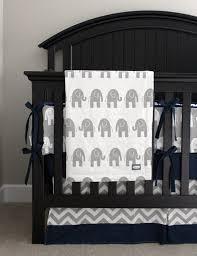 Grey Chevron Crib Bedding Set Elephant Nursery Crib Bedding Set Baby Boy Navy Blue Crib